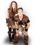 Caveman and cavegirl