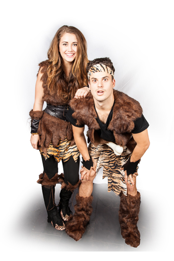 Caveman and cavegirl