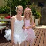 Bella Ballerina party host with ballerina birthday girl