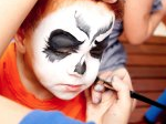 face painting spooky