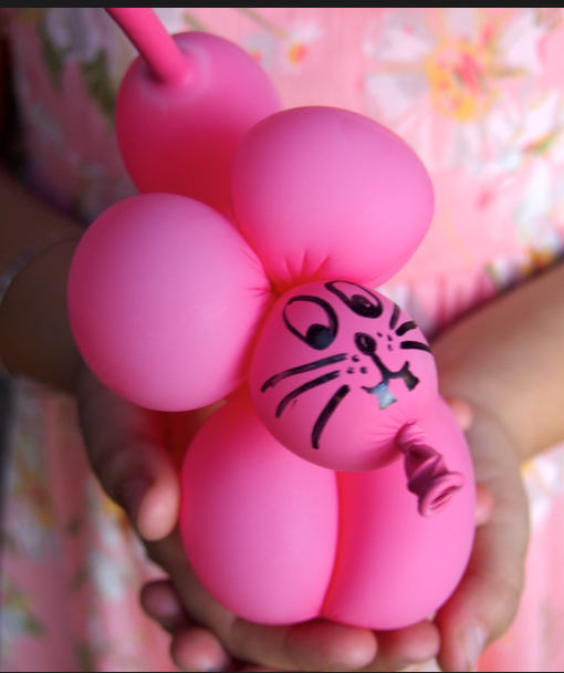 Balloon Twisting Pink Doggy