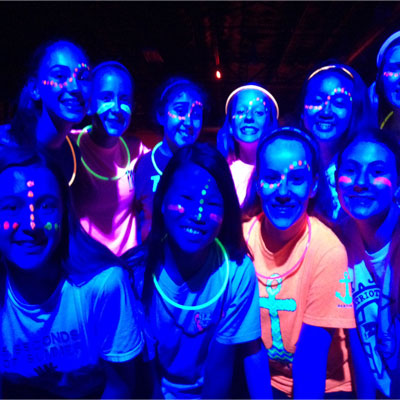glow face painting kids