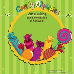 Candy Olympics e-Invite