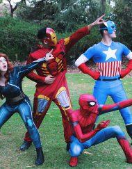 Superhero Black Widow Iron-Man Spider-Man Captain America Party Perth Parties Kids Remember