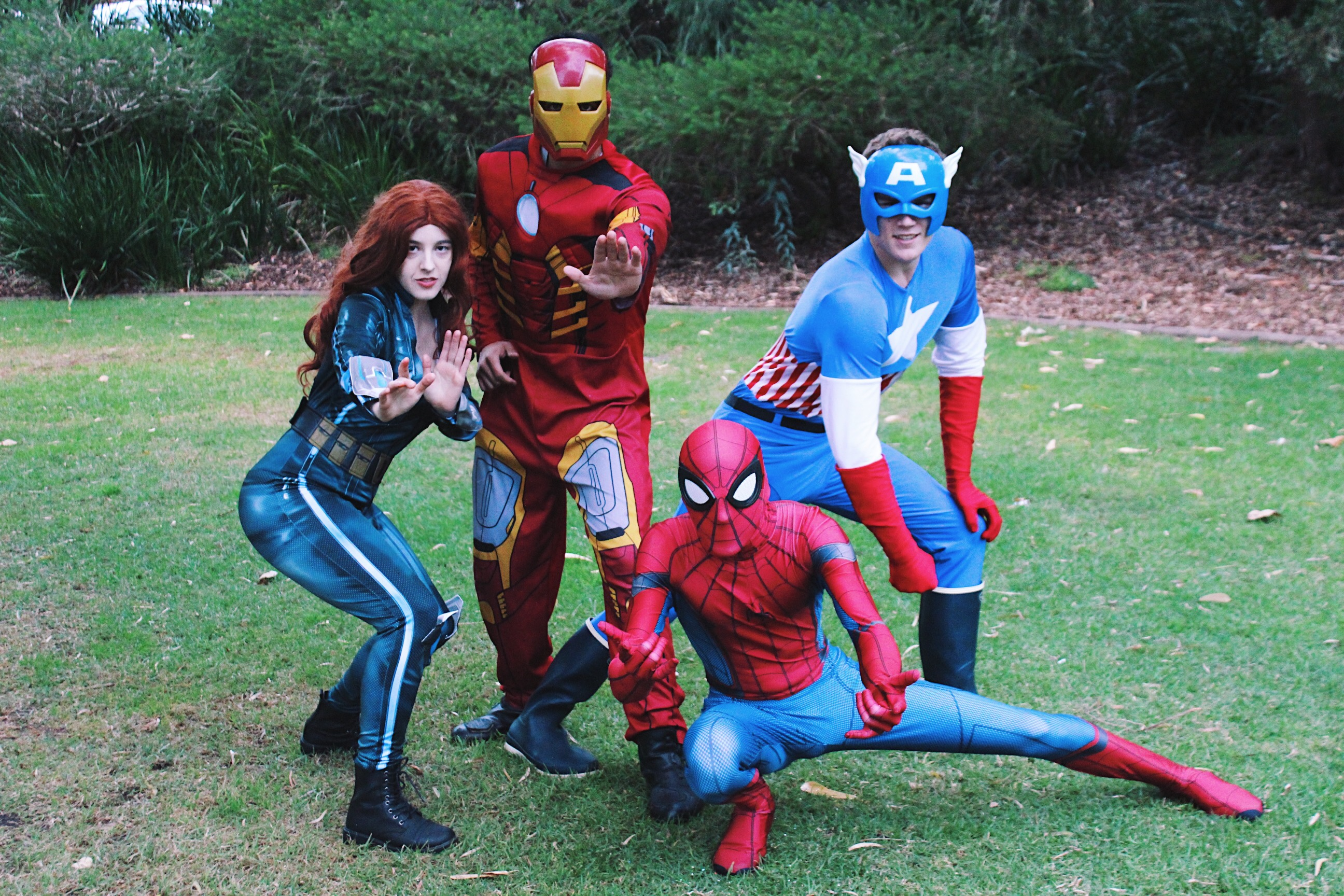 Superhero Black Widow Iron-Man Spider-Man Captain America Party Perth Parties Kids Remember