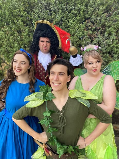 Meet and Greet Characters Peter Pan, Wendy, Tinkerbelle and Captain Hook